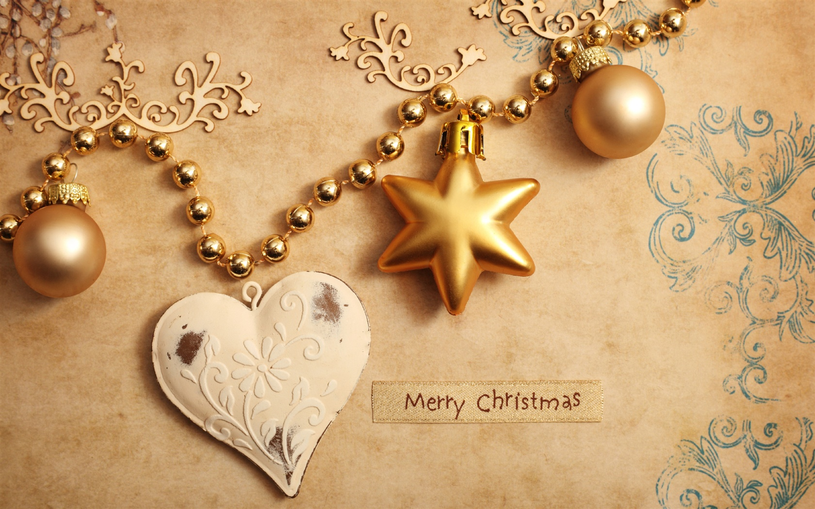 Christmas ornaments wallpaper - 1680x1050
