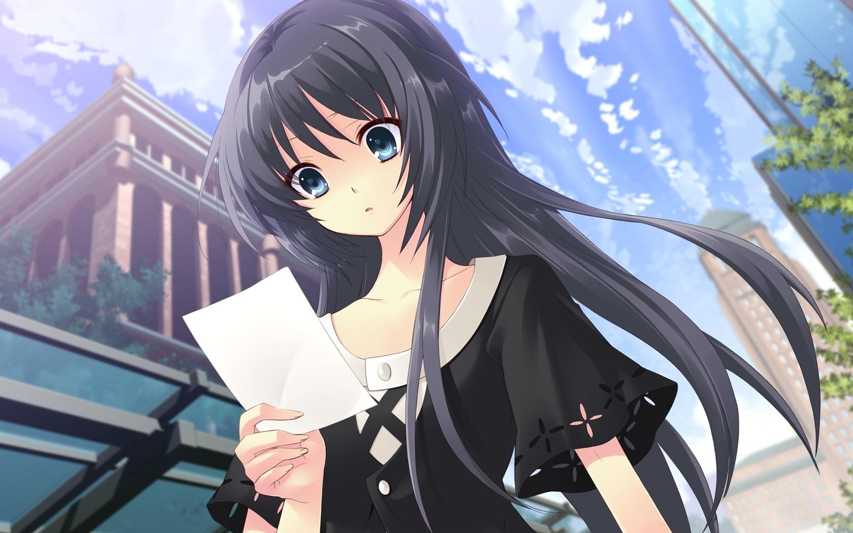 Kho Anime - Manga Anime-girl-look-at-the-letter_1680x1050