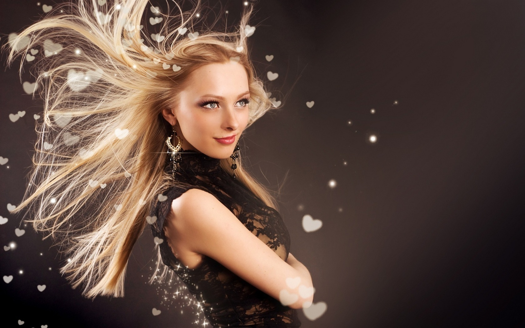 Wallpaper Fashion Girl Hair Flying 1920x1080 Full Hd 2k Picture Image
