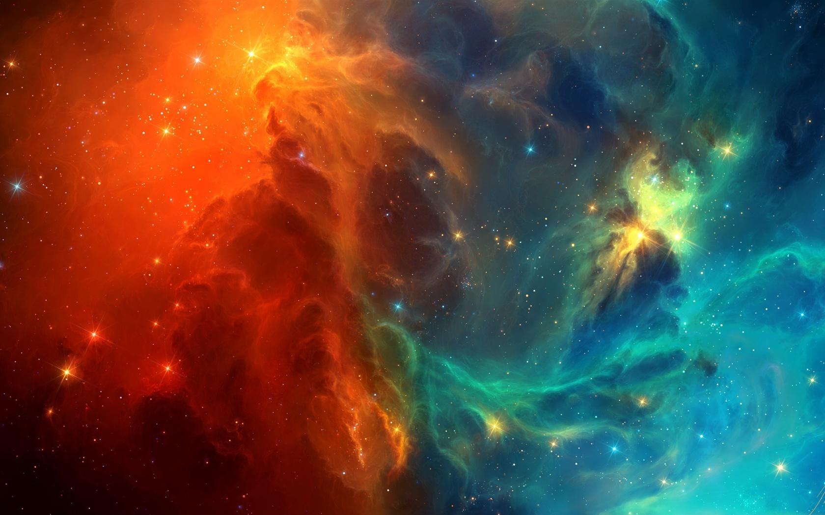 Space nebel blau und rot galaxien 2560x1440 qhd - Blue space galaxy wallpaper ...