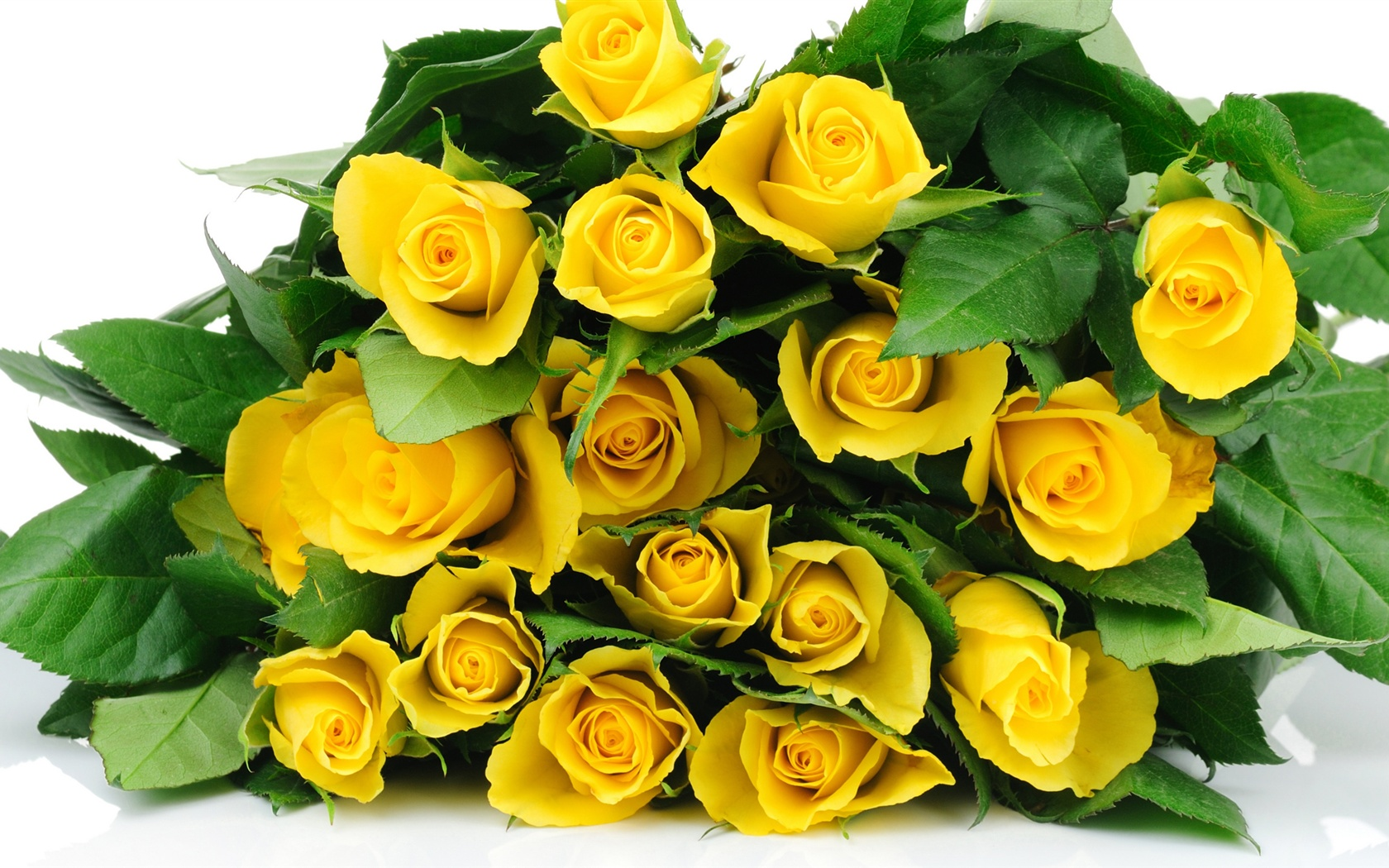 Wallpaper A Bouquet Flowers Yellow Roses 2560x1440 Qhd Picture Image