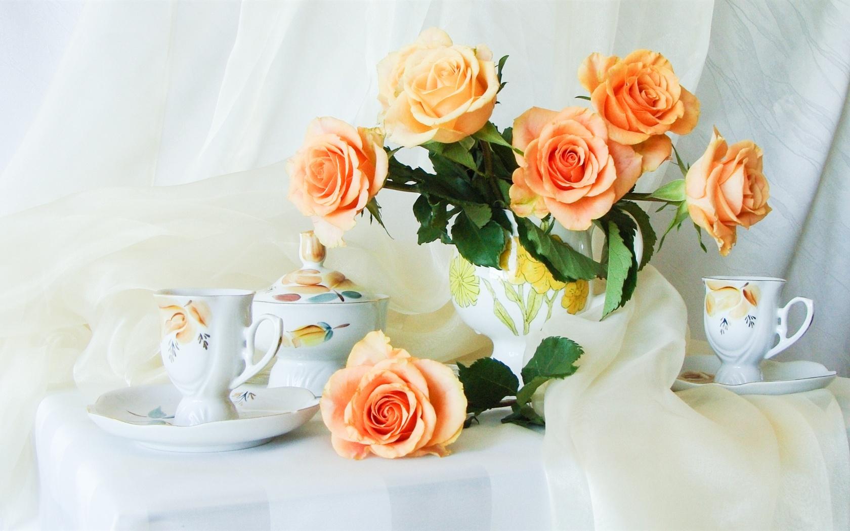 Обои на рабочий стол красивые бесплатно цветы розы натюрморт