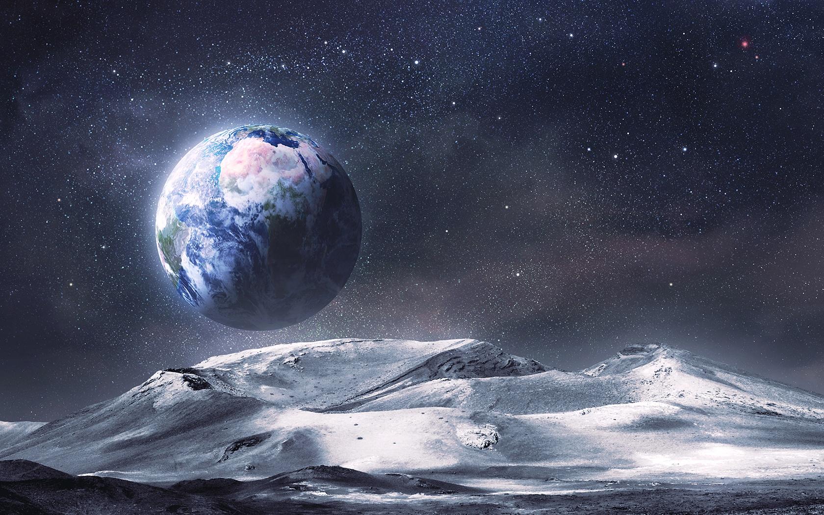 宇宙の惑星から地球を見る 壁紙 - 1680x1050    1680x1050 壁紙ダウンロー