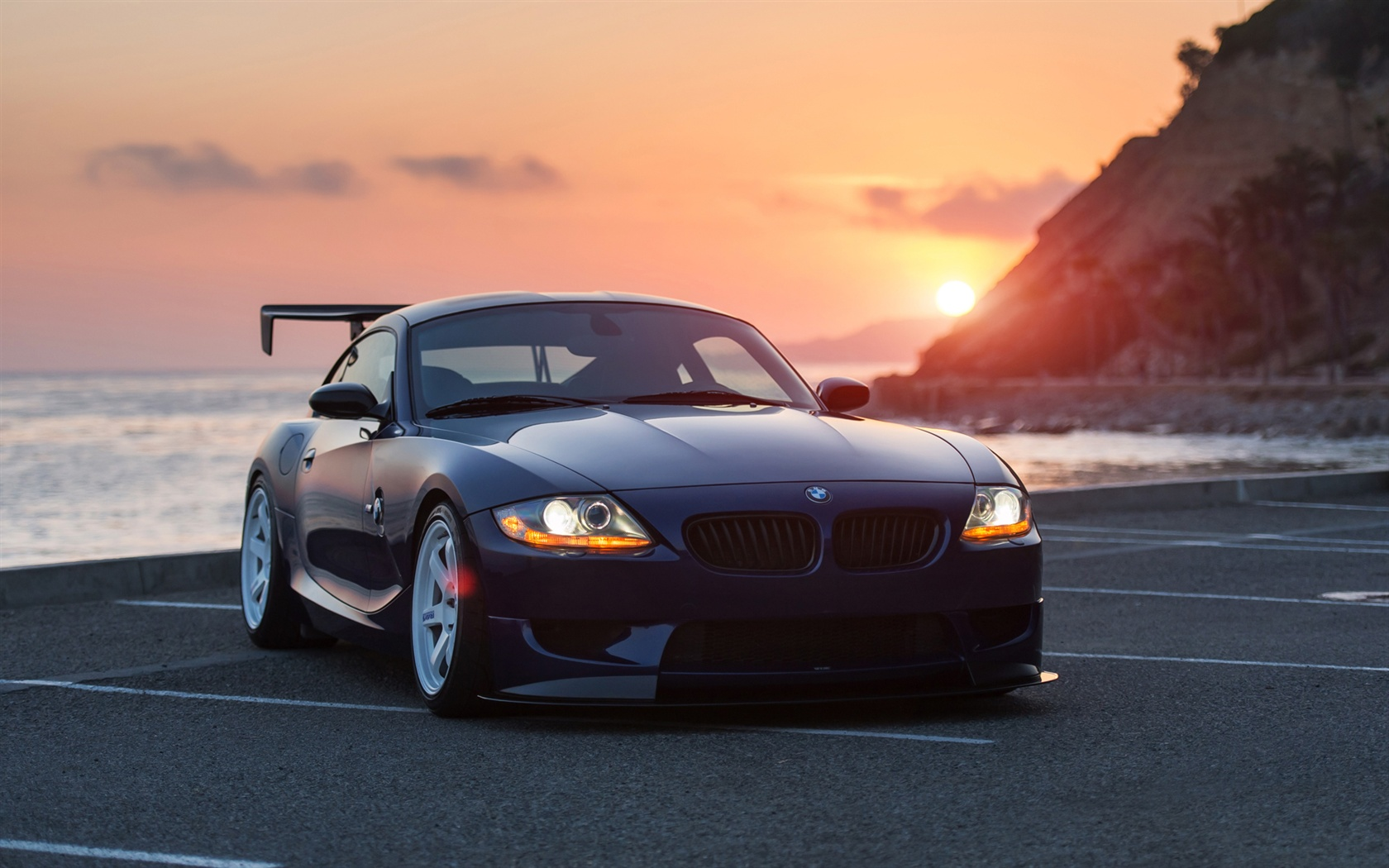 Wallpaper Bmw Z4 Black Car At Sunset 1920x1200 Hd Picture