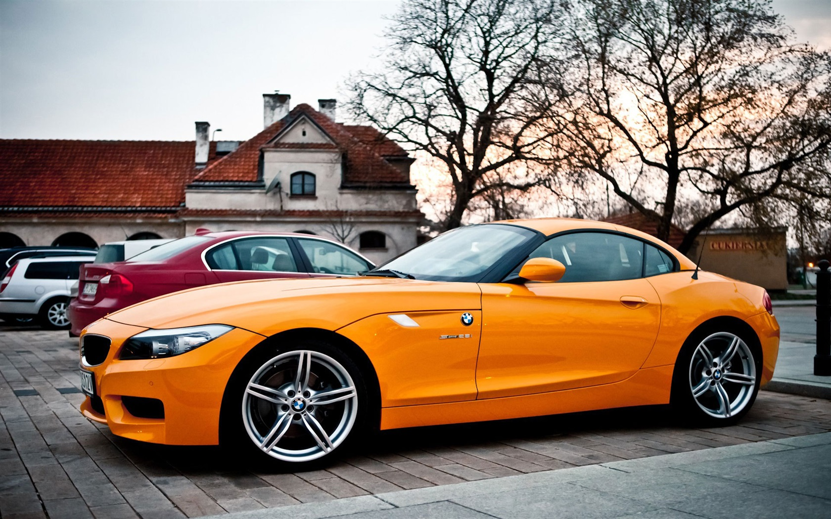 Wallpaper Bmw Z4 Orange Car 1920x1200 Hd Picture Image