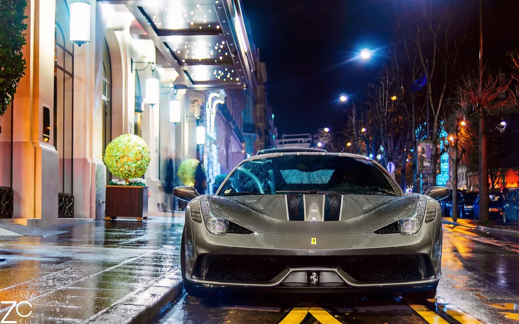 Must see Wallpaper Night Ferrari - Ferrari-458-Speciale-supercar-at-night-street-Paris-France_1680x1050  Pictures-279777.jpg