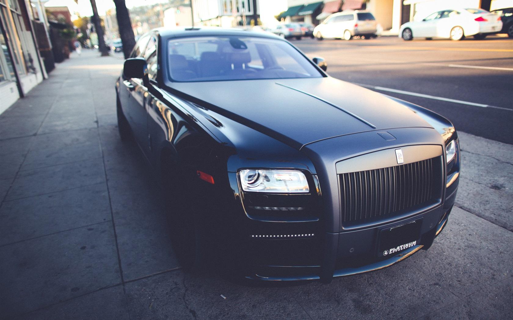 Luxury Vehicle: 壁紙 ロールス·ロイス、つや消し黒の高級車 2560x1600 HD 無料のデスクトップの背景, 画像