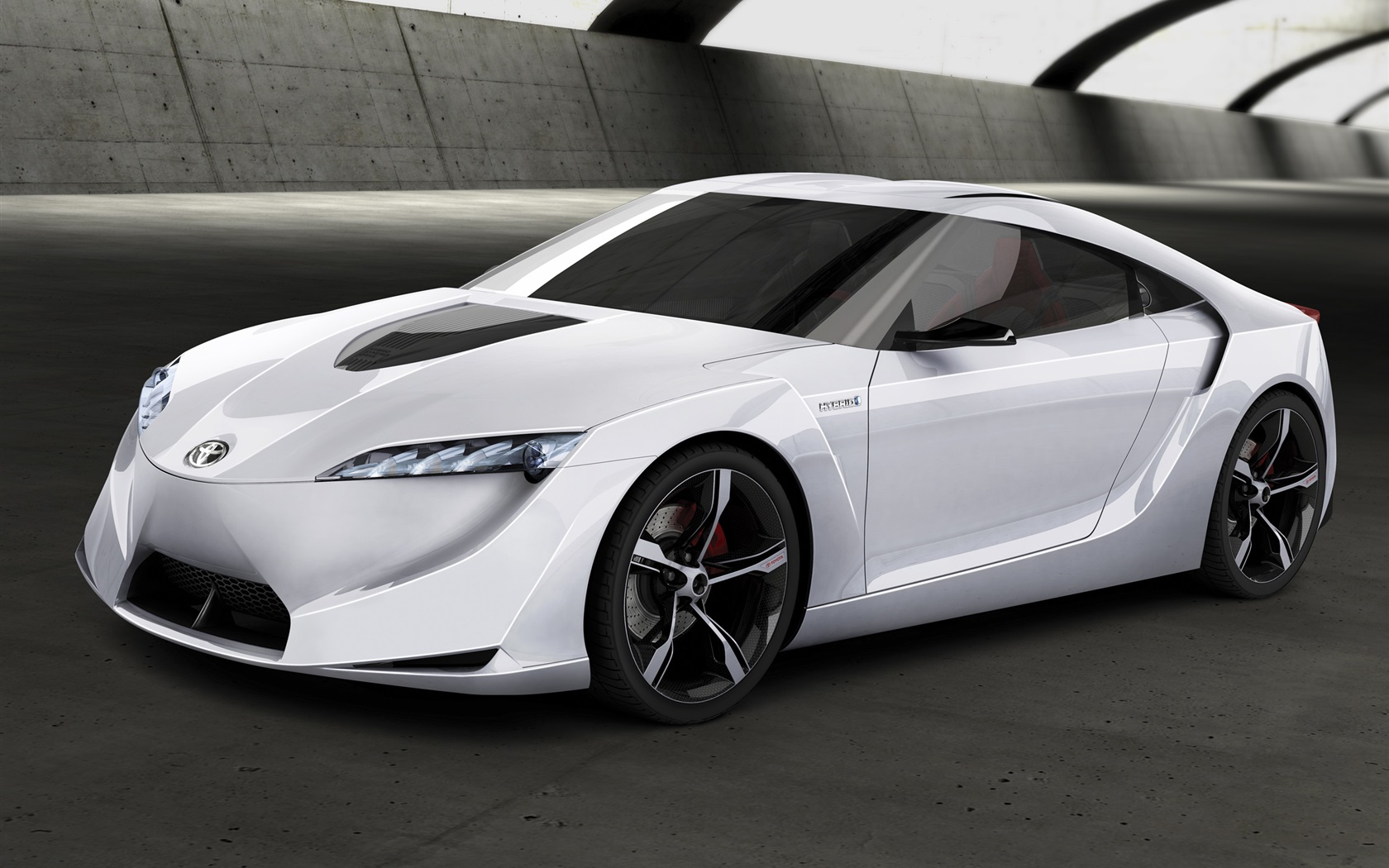 toyota ft hs concept de voiture blanche fonds d 39 cran 1680x1050 fonds d 39 cran de. Black Bedroom Furniture Sets. Home Design Ideas