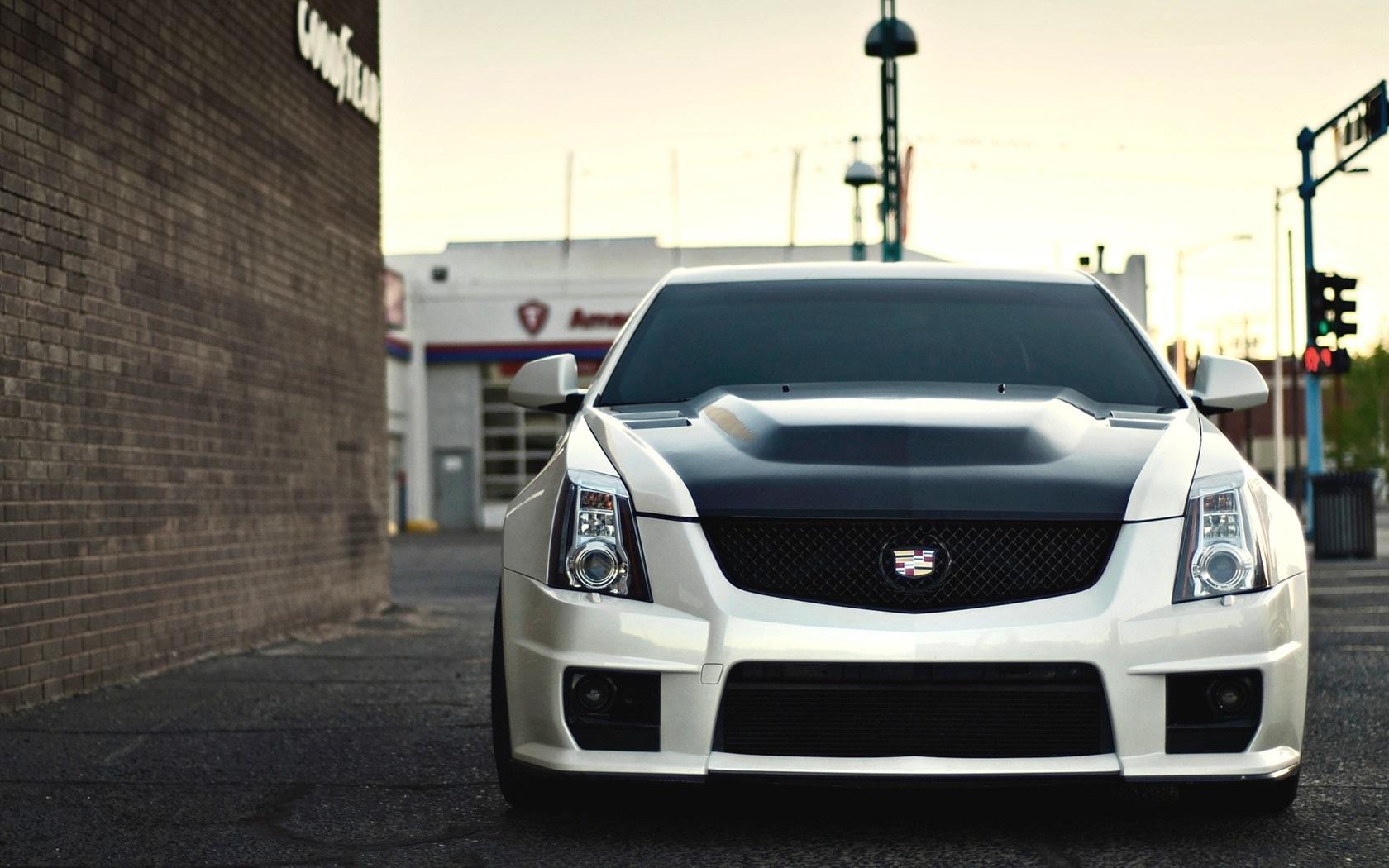 Cadillac CTS V weißes Auto Vorderansicht 21x21 HD ...
