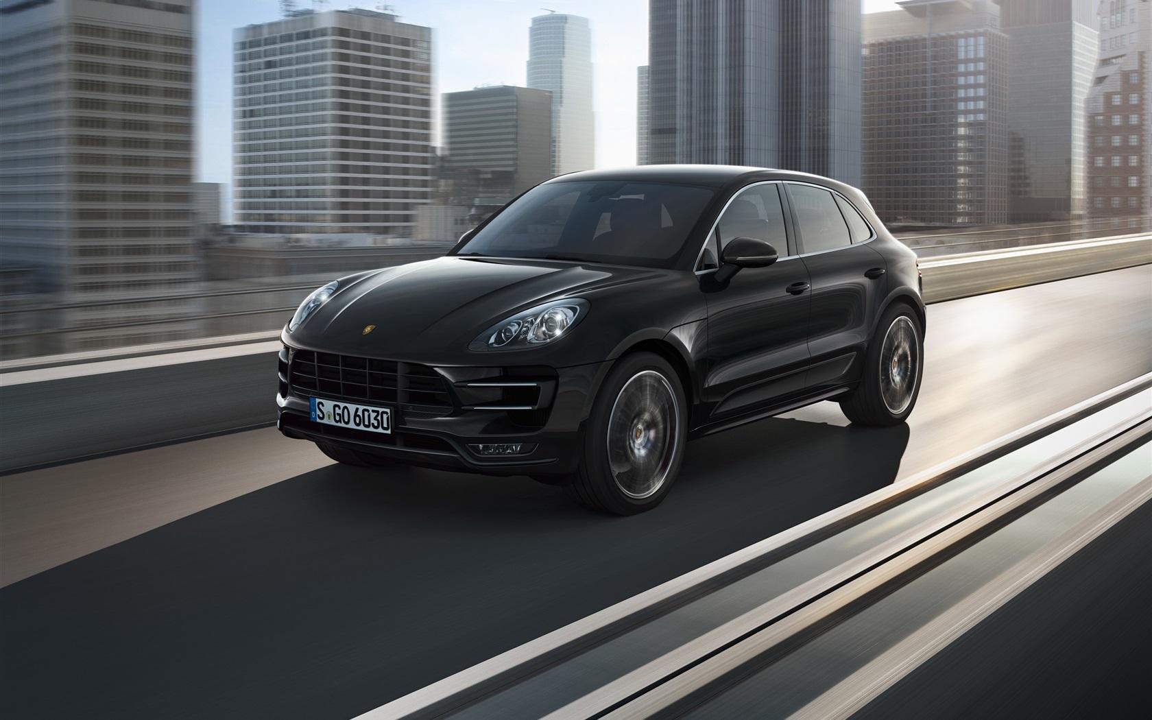 Porsche Macan S 2014 Wallpapers: Wallpaper Porsche Macan 2014 Black SUV Car 2560x1920 HD