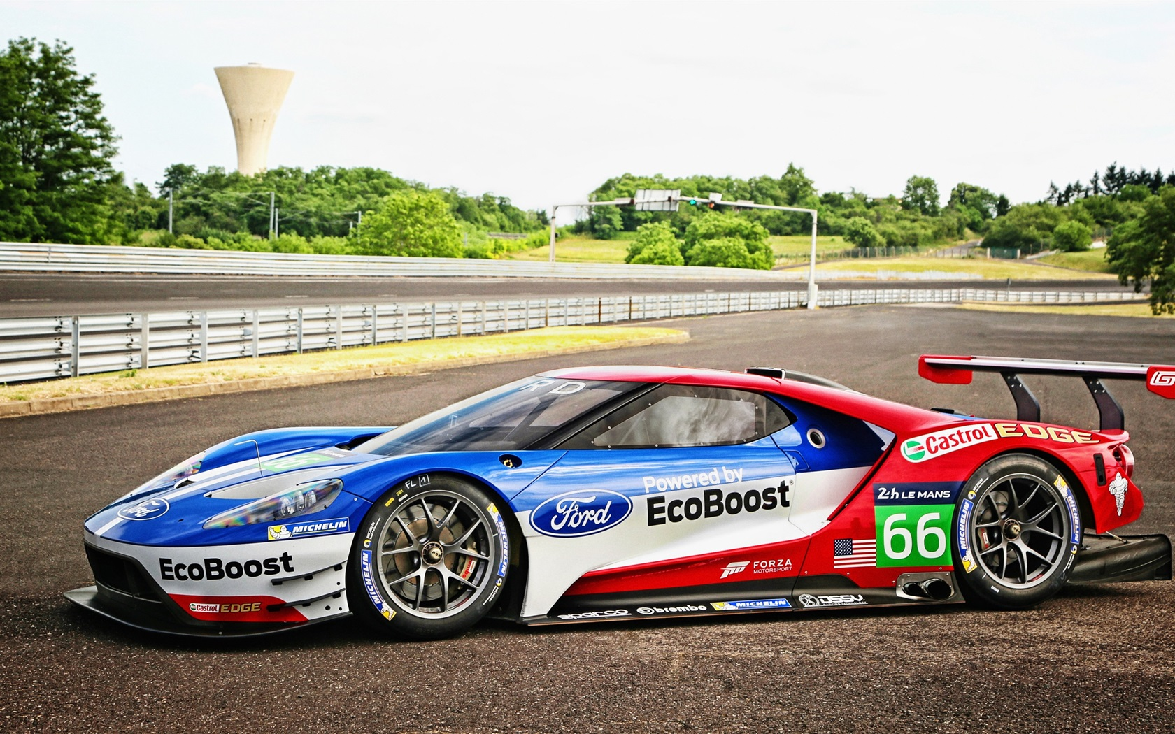 Wallpaper 2016 ford gt race car side view 2560x1440 qhd picture image - Car side view wallpaper ...