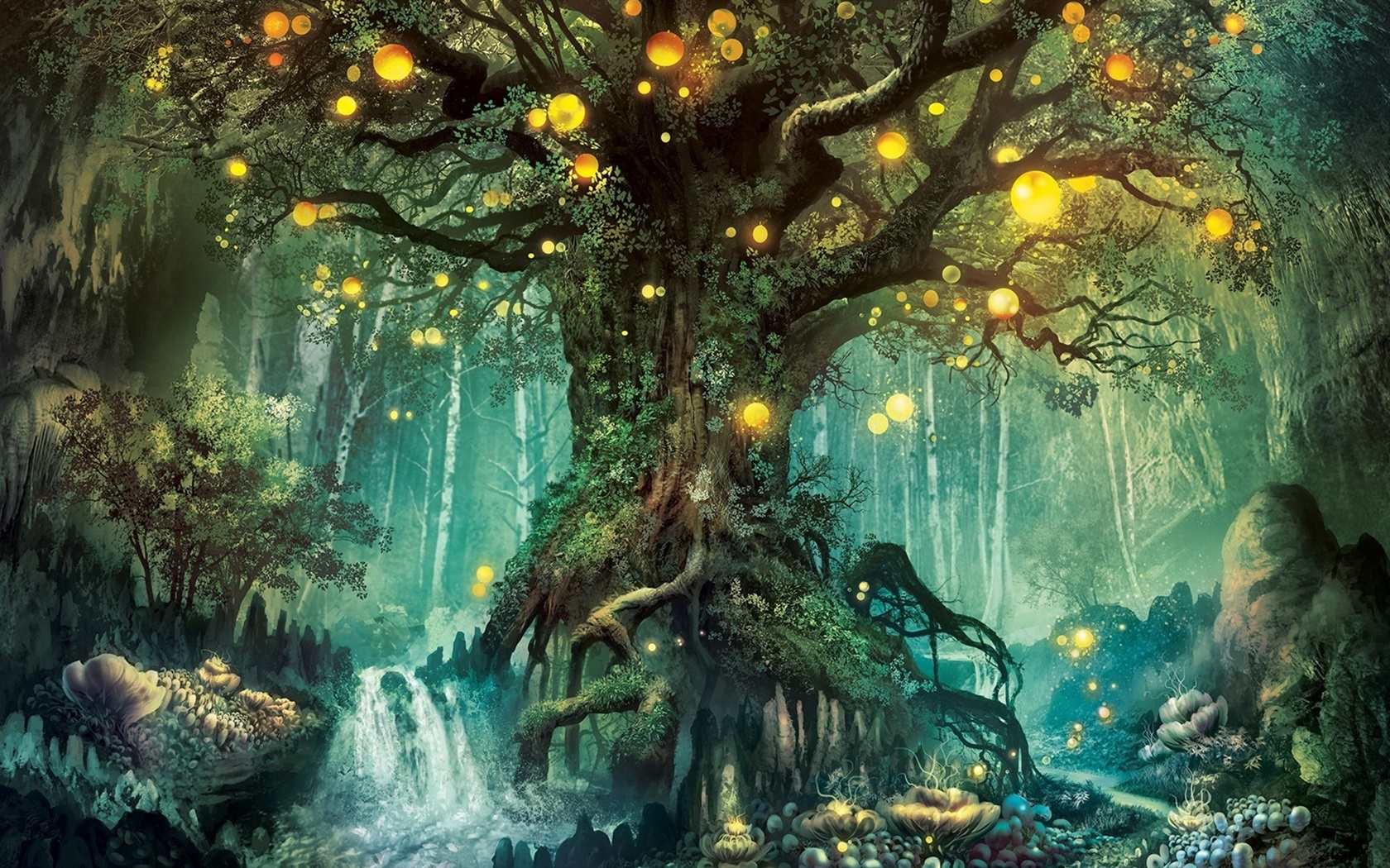 Magic-forest-tree-lights-creative-design