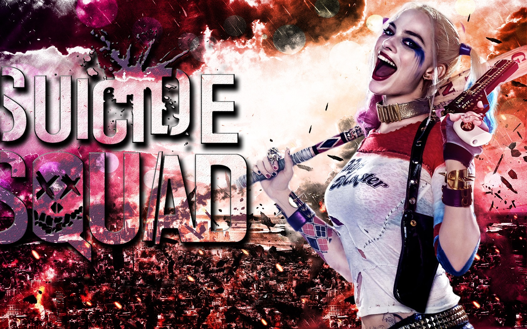 Wallpaper Margot Robbie In Suicide Squad 2016 1920x1080 Full Hd 2k