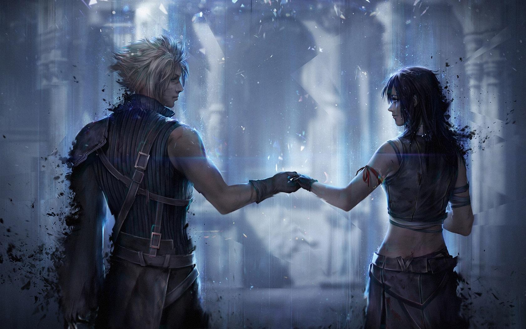 最终幻想7,女孩和男孩,经典游戏 壁纸 - 1680x1050