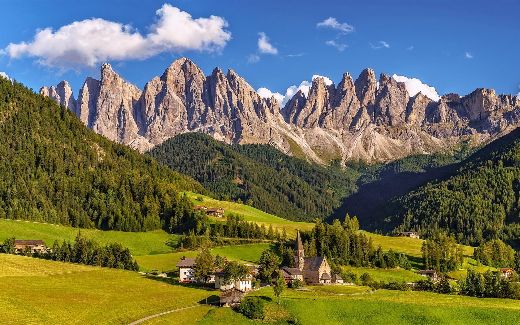 italien s dtirol dolomiten dorf gras berge b ume 1920x1080 full hd 2k hintergrundbilder. Black Bedroom Furniture Sets. Home Design Ideas