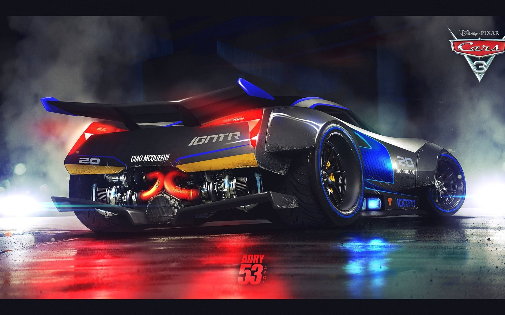 Wallpaper Cars 3, Disney, Pixar movie, supercar rear view ...