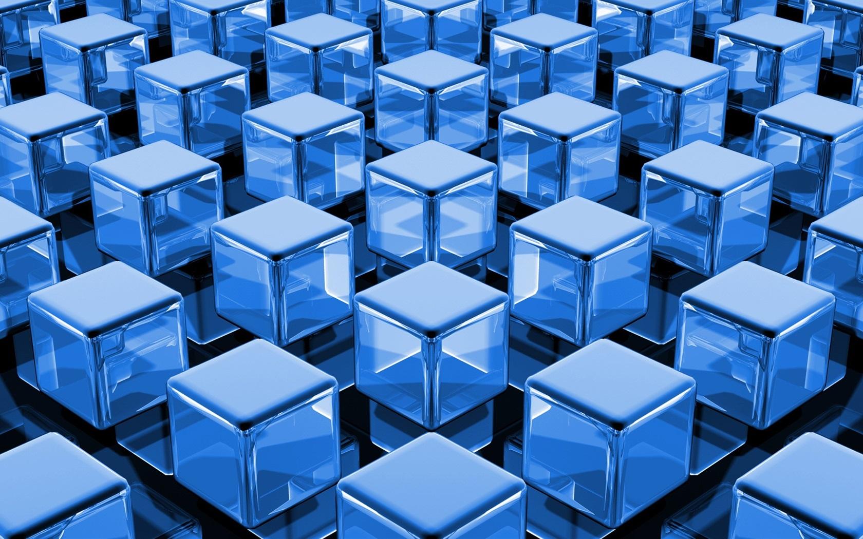 3d Wallpaper Hd 1680x1050: Download Wallpaper 1680x1050 3D Blue Cubes HD Background