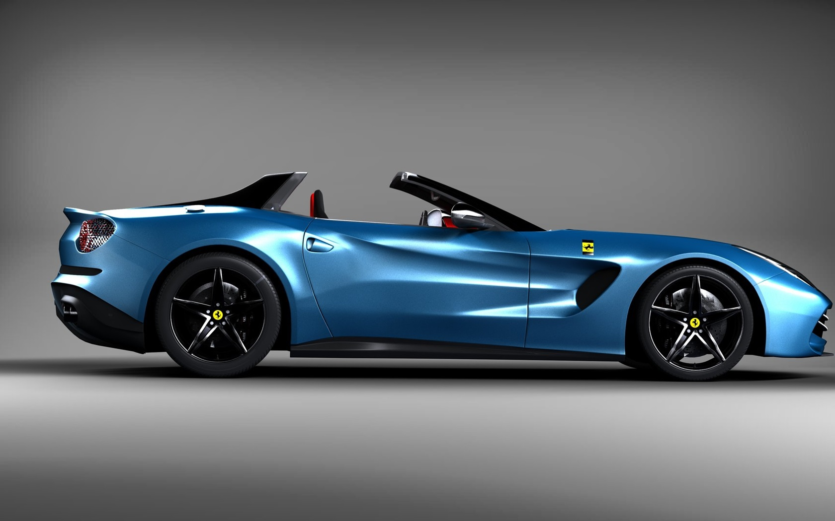 Download wallpaper 1680x1050 ferrari blue car side view sports car hd background - Car side view wallpaper ...