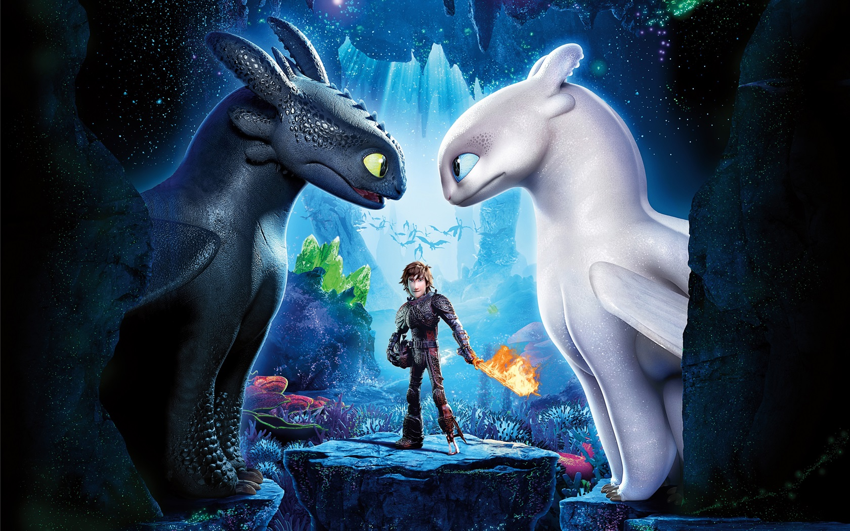 How To Train Your Dragon 3, Black And White Dragons