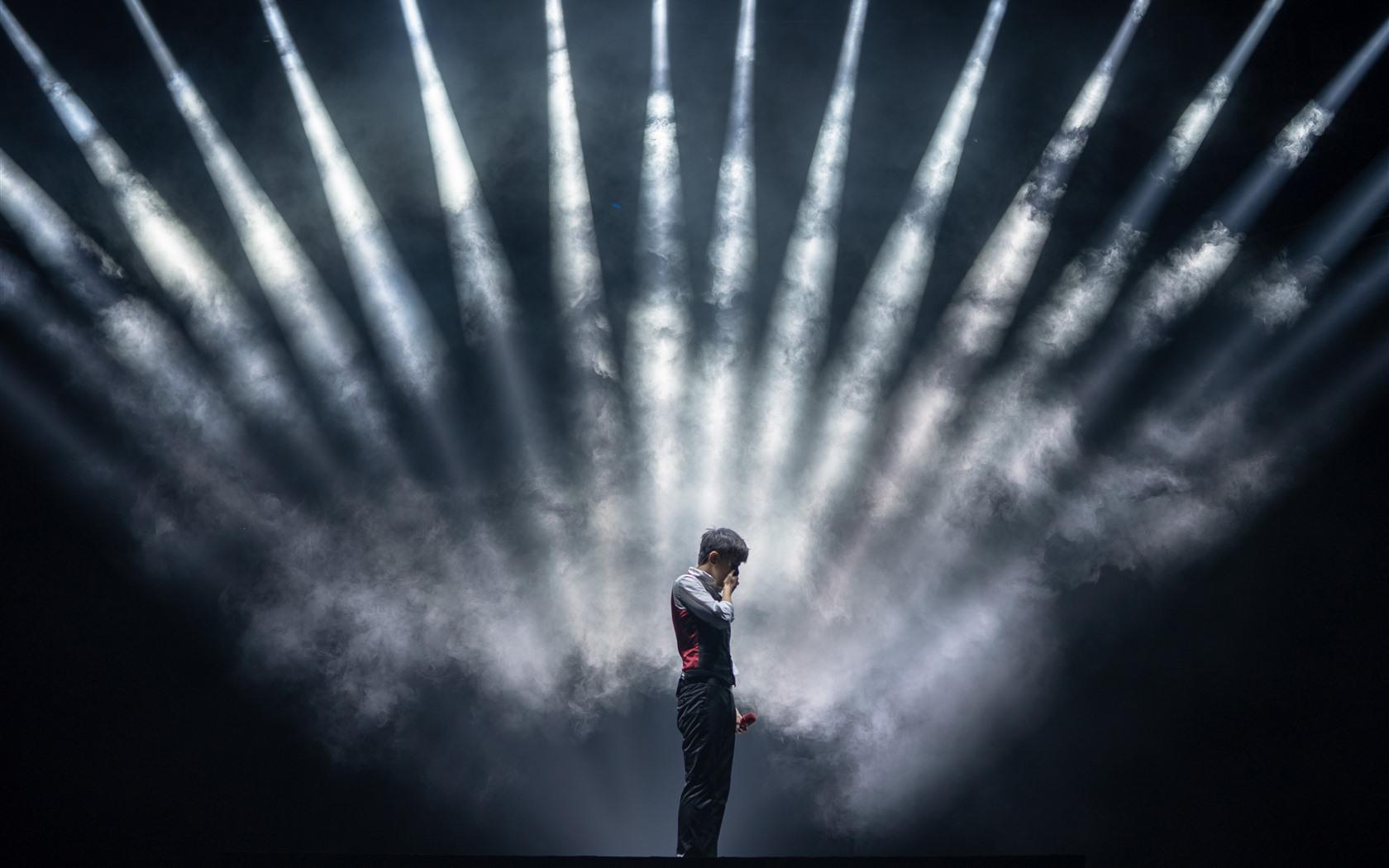 Wallpaper Concert Stage Lighting Smoke 5120x2880 Uhd 5k