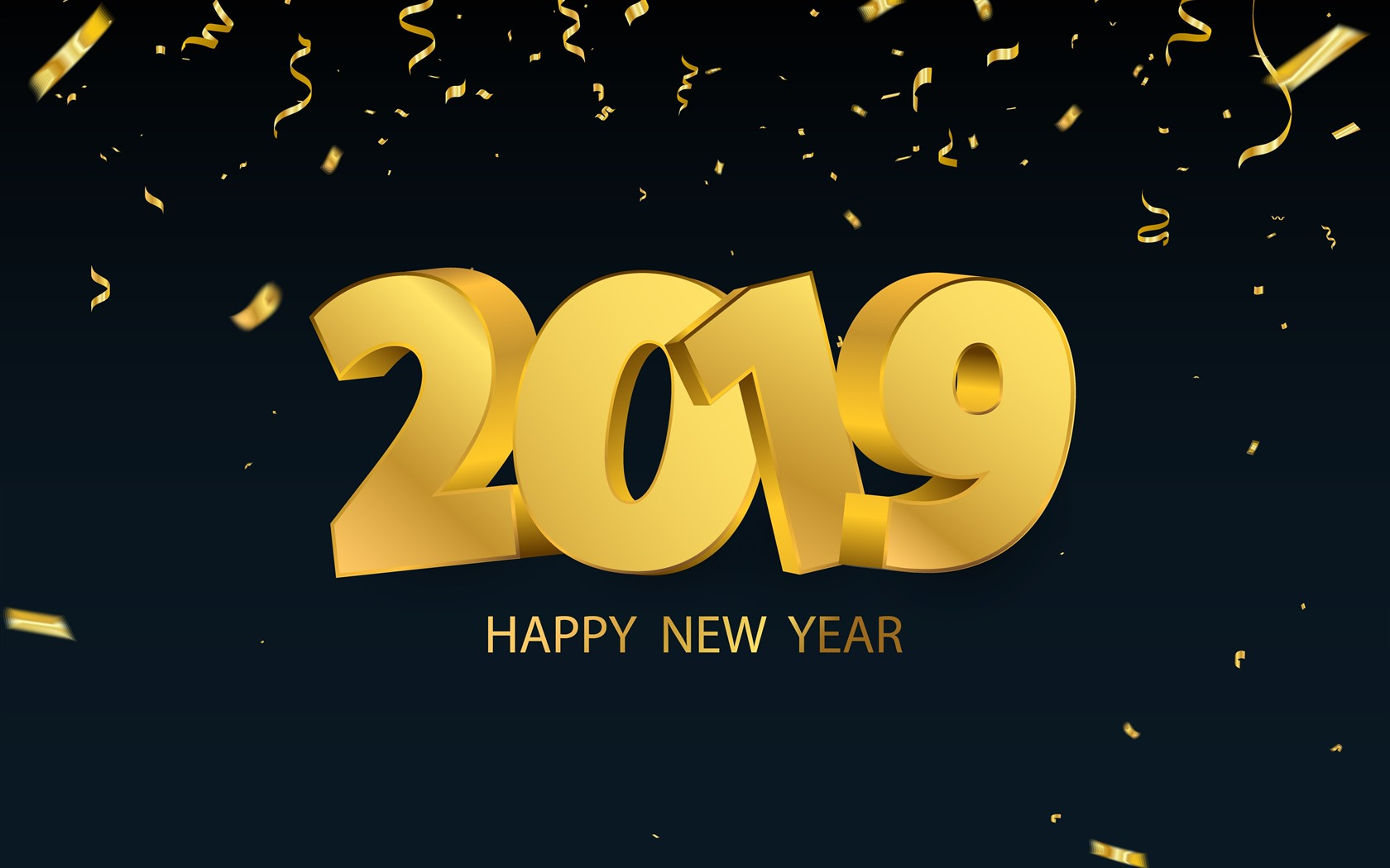 Happy New Year 2019, golden style 1242x2688 iPhone XS Max