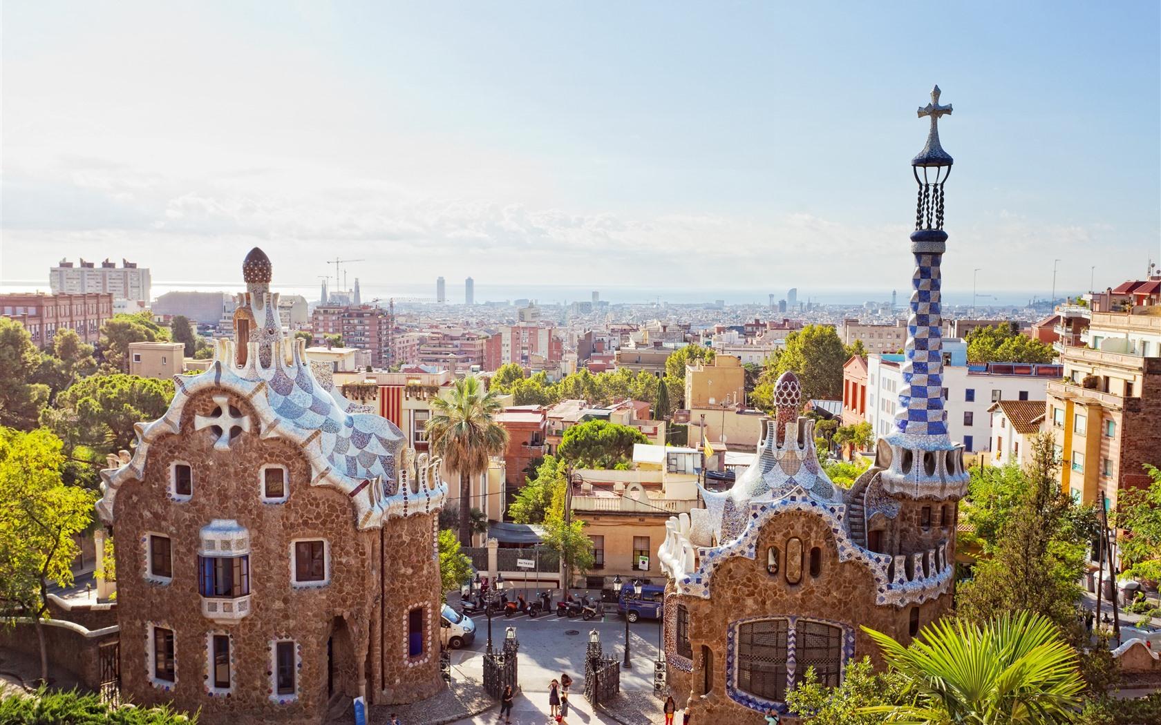 壁紙 スペイン バルセロナ 街 太陽光線 3840x2160 Uhd 4k 無料のデスクトップの背景 画像
