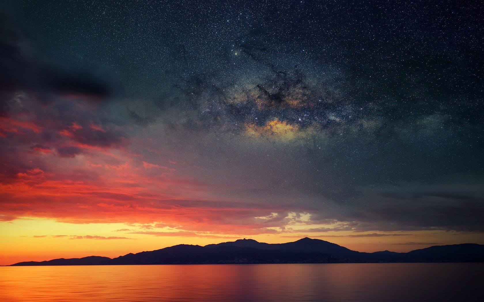 Wallpaper Corsica France Mountains Sea Starry Sky Clouds Sunset 3840x2160 Uhd 4k Picture Image