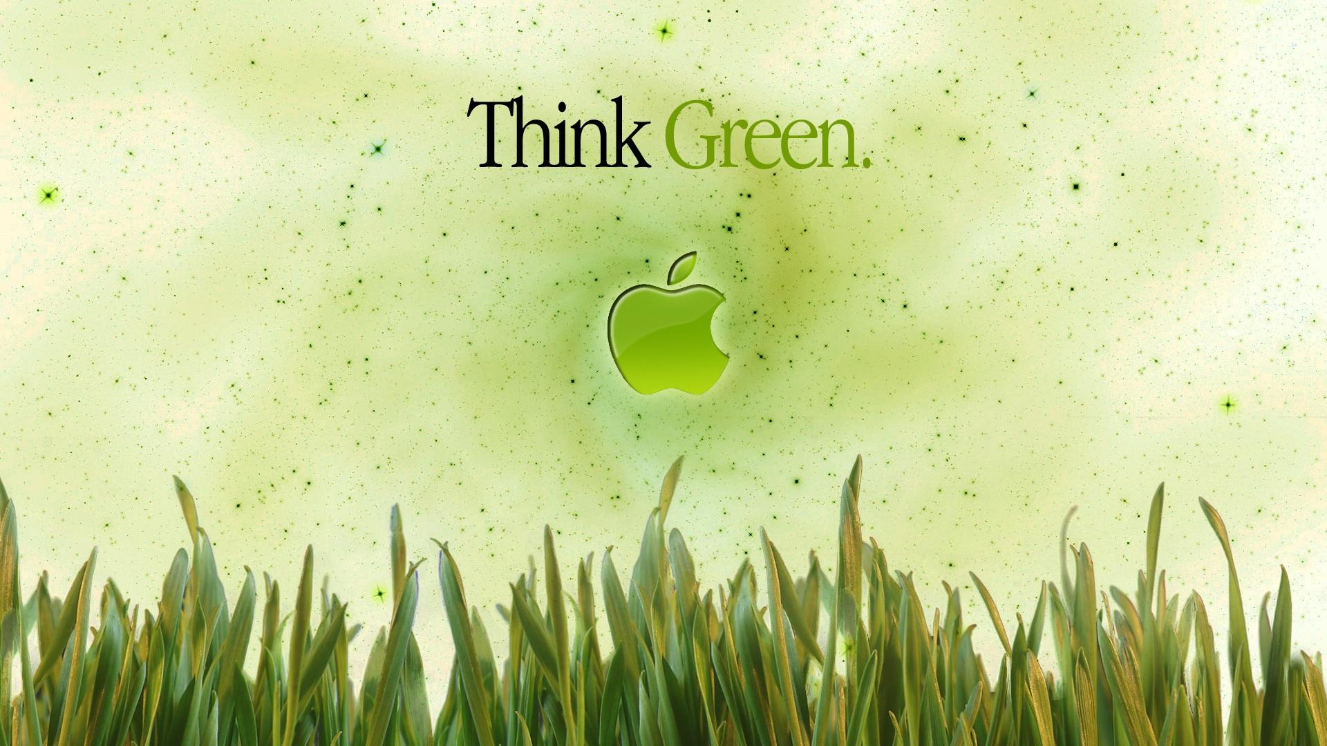 Fondos De Pantalla Apple Piensa En Verde 1920x1200 Hd Imagen