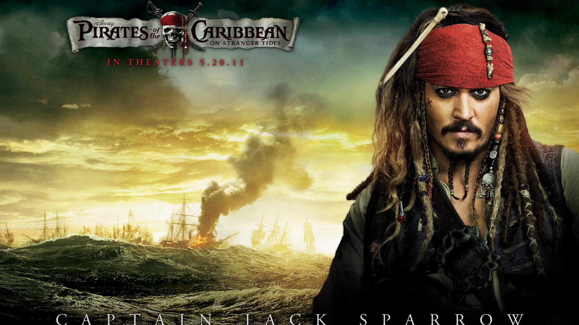 加勒比海盗4 船长 杰克 斯派洛 1920x1080 壁纸下载