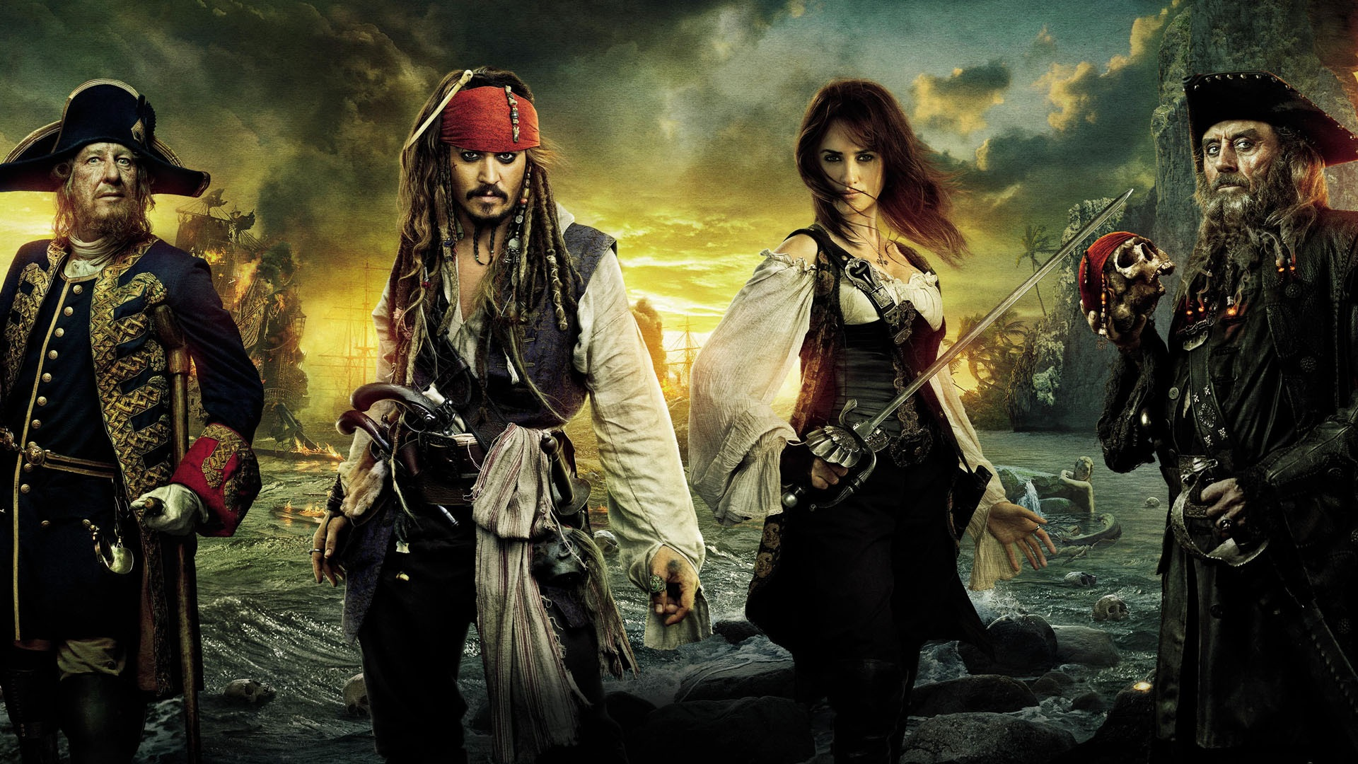 Pirates of the caribbean on stranger tides hd hintergrundbilder 1920x1080 full hd - Pirates of the caribbean images hd ...