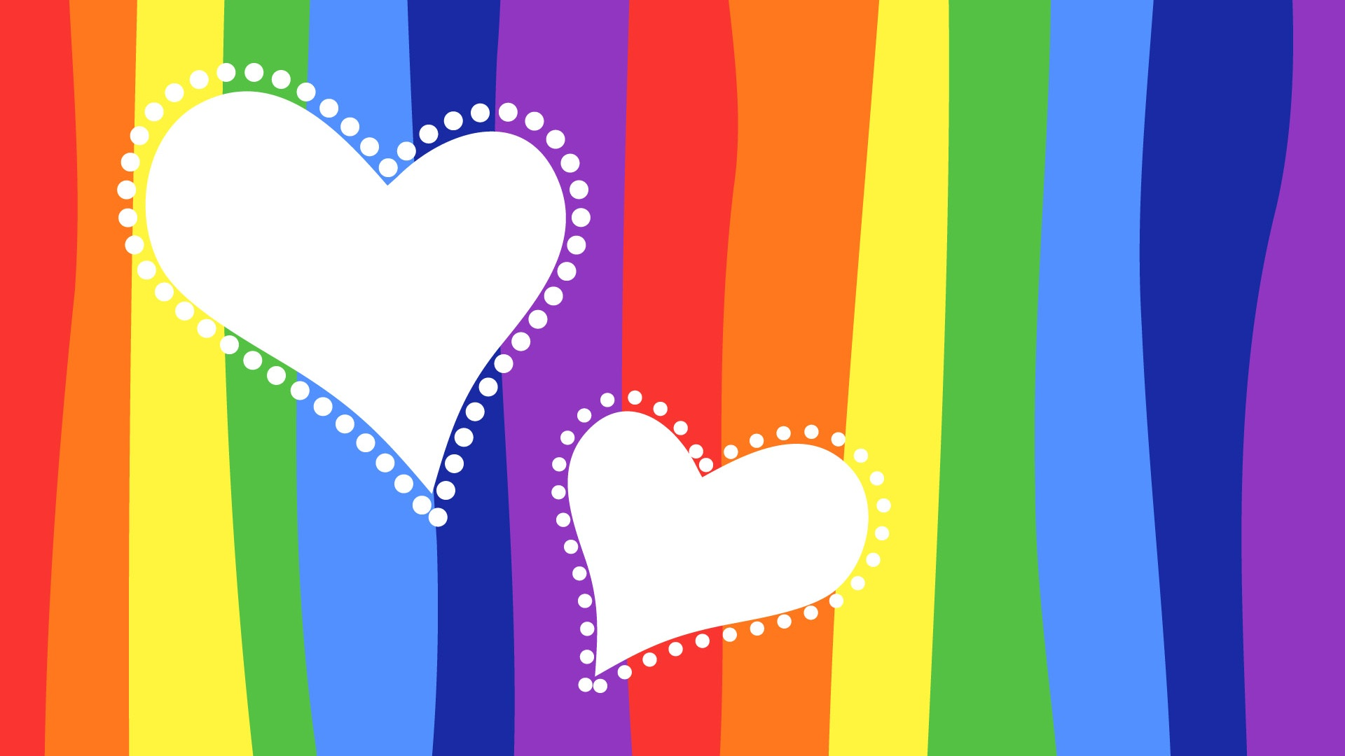 Colorful Background Love Heart Wallpaper | 1920x1080 Full ...