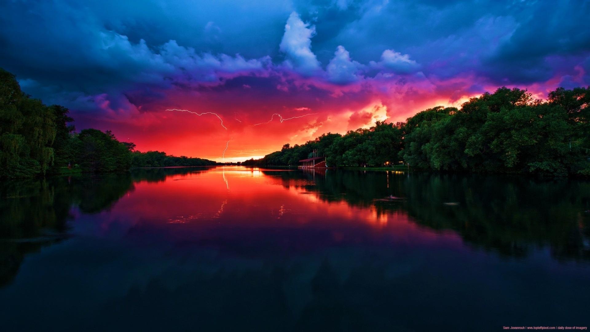 赤い空 壁紙 | 1920x1080 壁紙ダウンロード : 自然と涙がでてくるほど美しい空・景色・風景画像集 ...