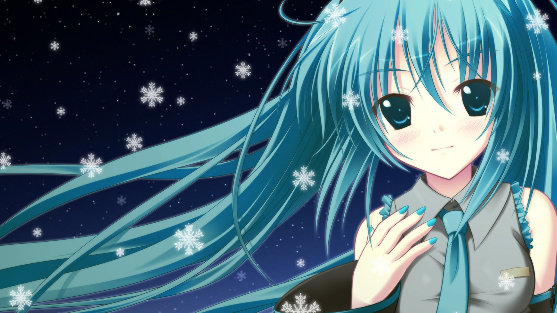 Wallpaper blue hair anime girl 1920x1200 hd picture image - Blue anime wallpaper ...