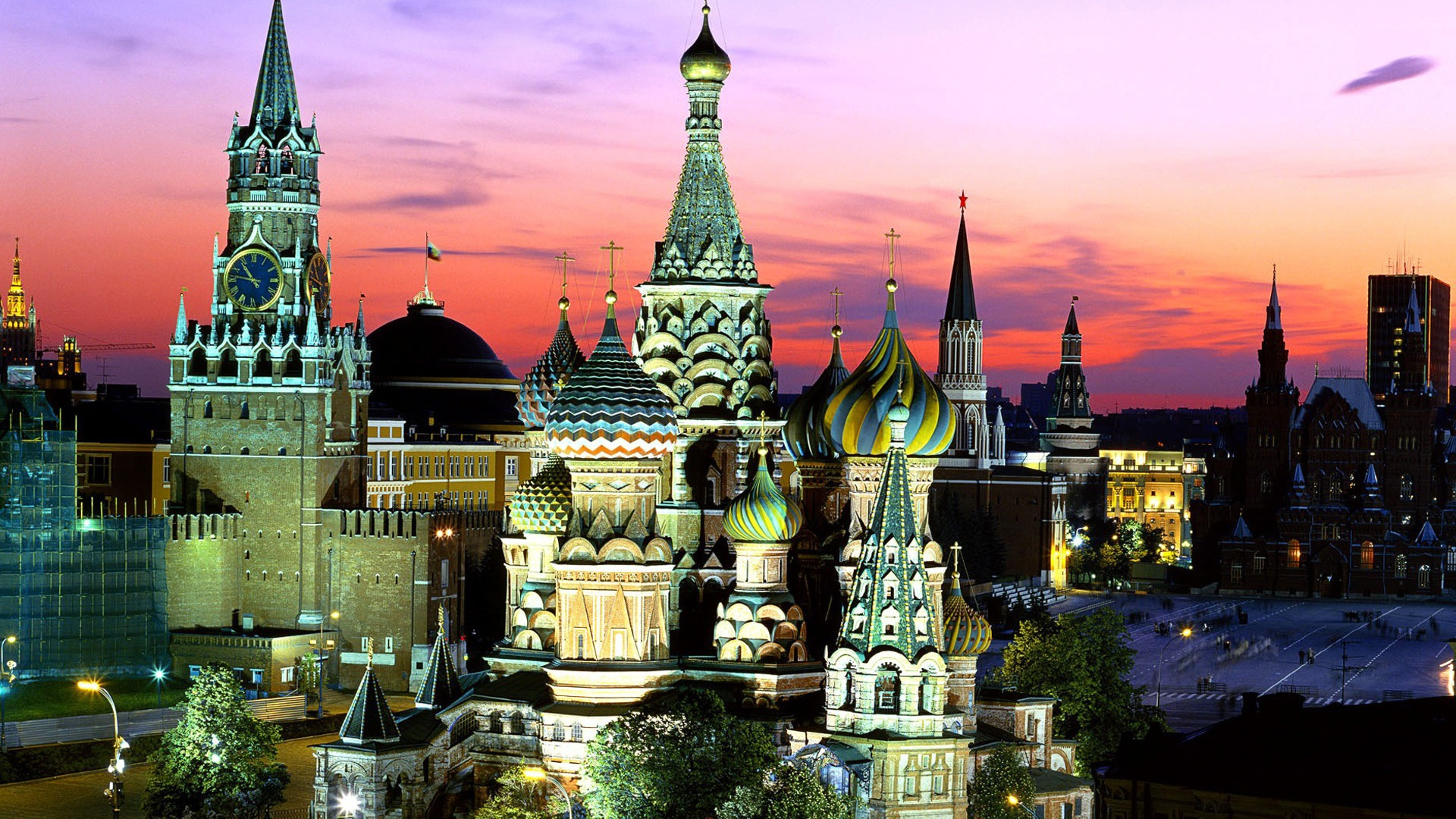 wallpaper russia moscow night 1920x1200 hd picture image