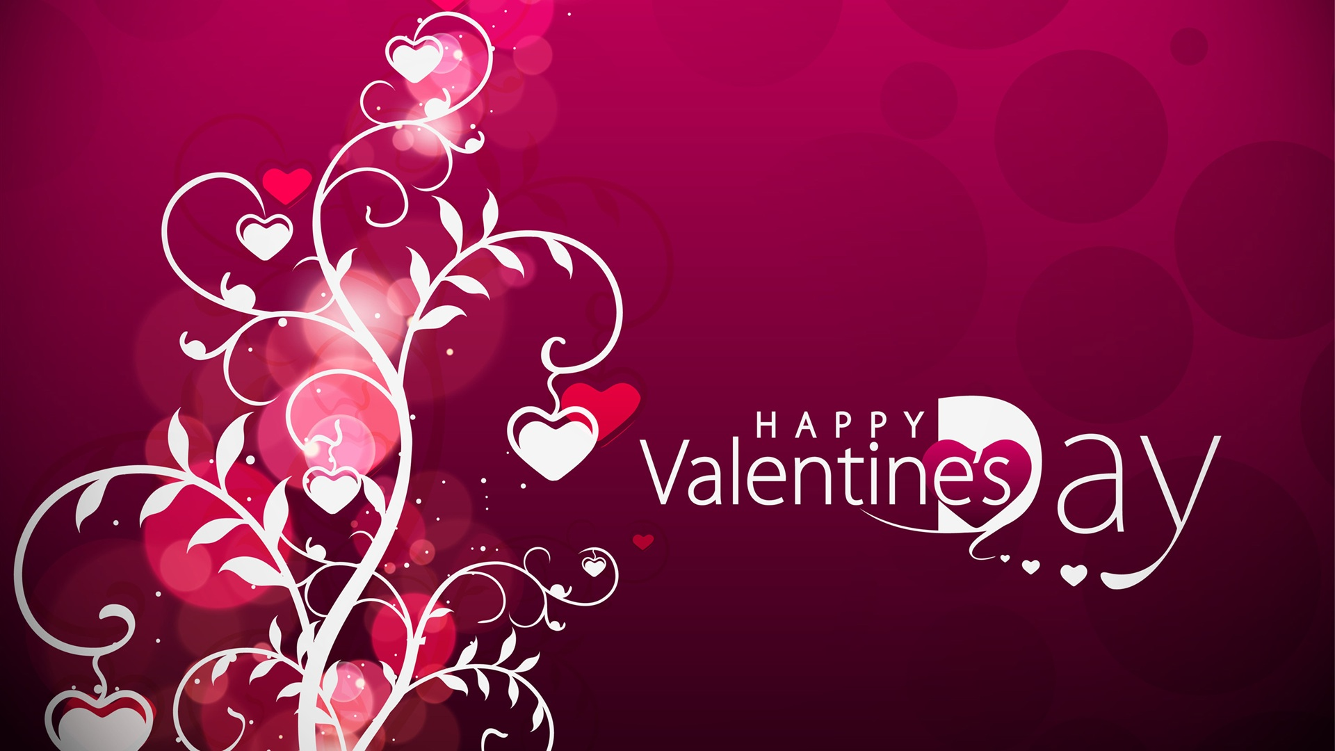 Vector Valentine's Day hearts wallpaper 1920x1080 Full HD