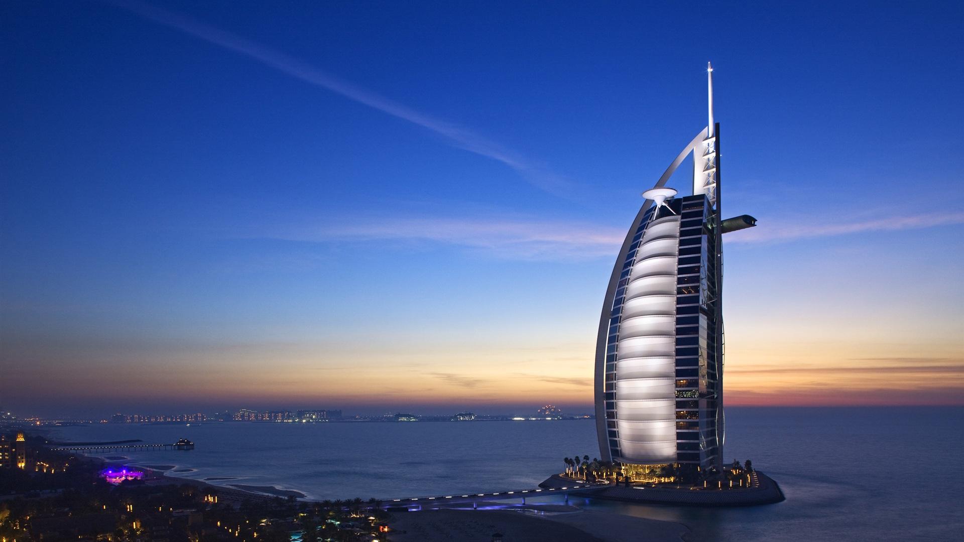 Download Wallpaper 1920x1080 Dubai Hotels Burj Al Arab