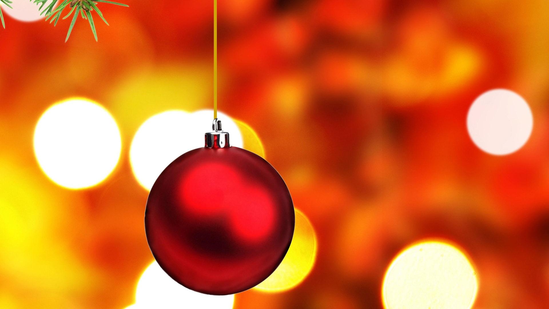 red bola de navidad x full hd