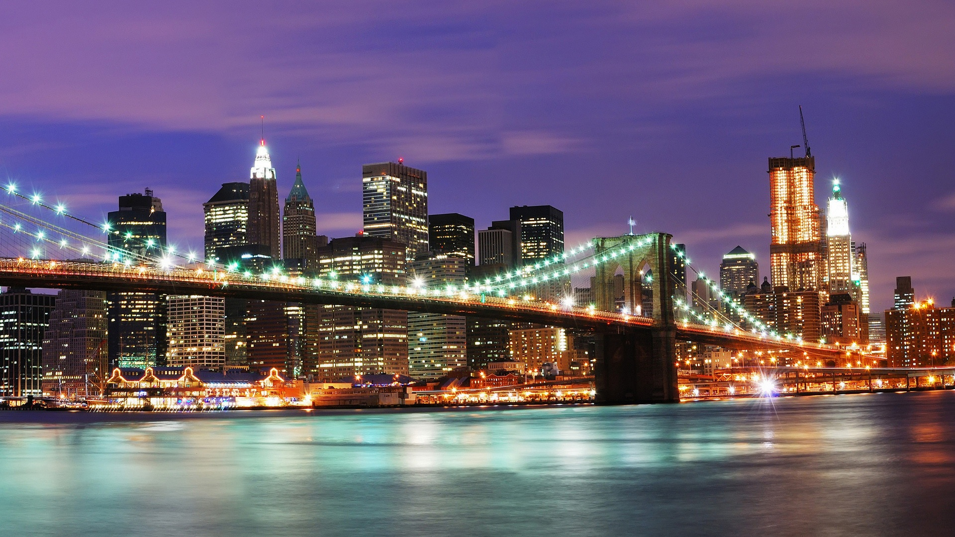 Wallpaper United States New York City Night 1920x1200 HD Picture Image