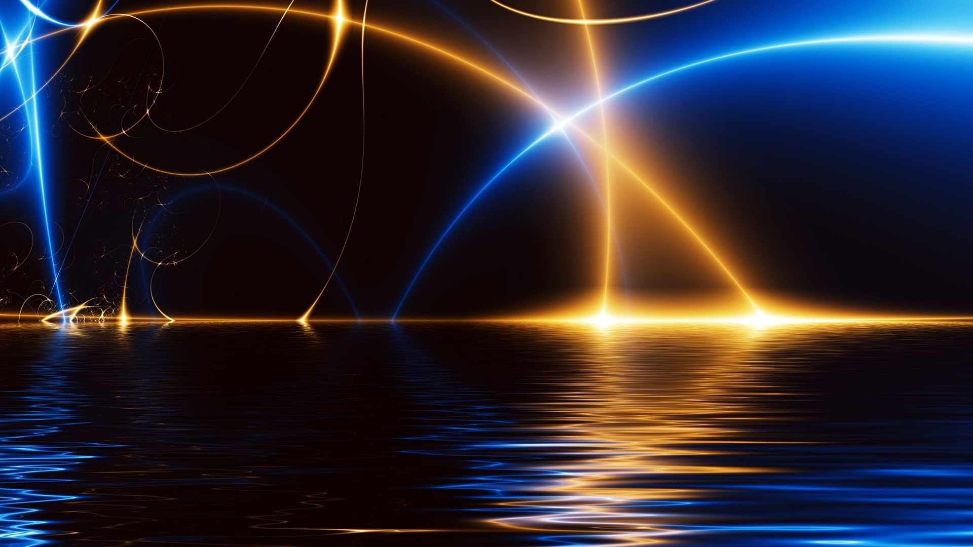 Abstract lines of light wallpaper - 1920x1080
