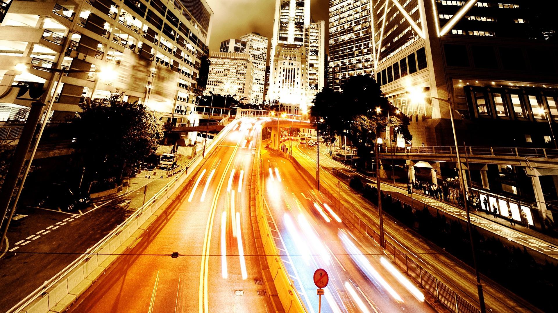 светящийся мегаполис в хорошем качестве