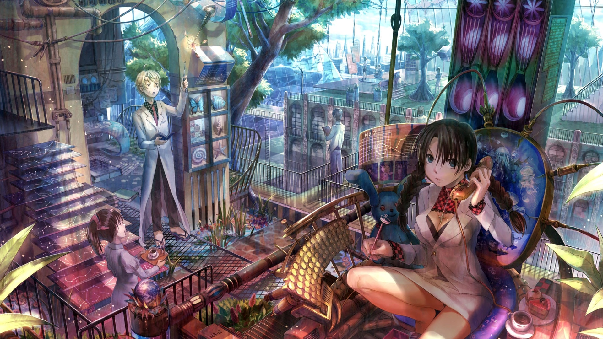 壁紙 バーのアニメの女の子 19x10 Hd 無料のデスクトップの背景 画像