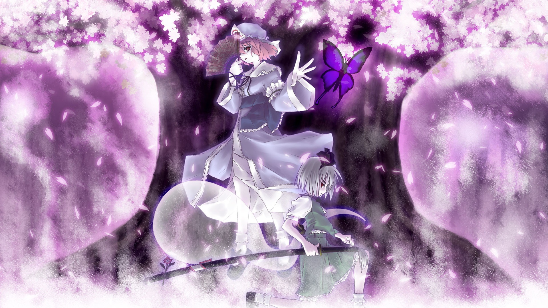 壁紙 アニメの女の子紫の桜 1920x1200 Hd 無料のデスクトップの背景 画像