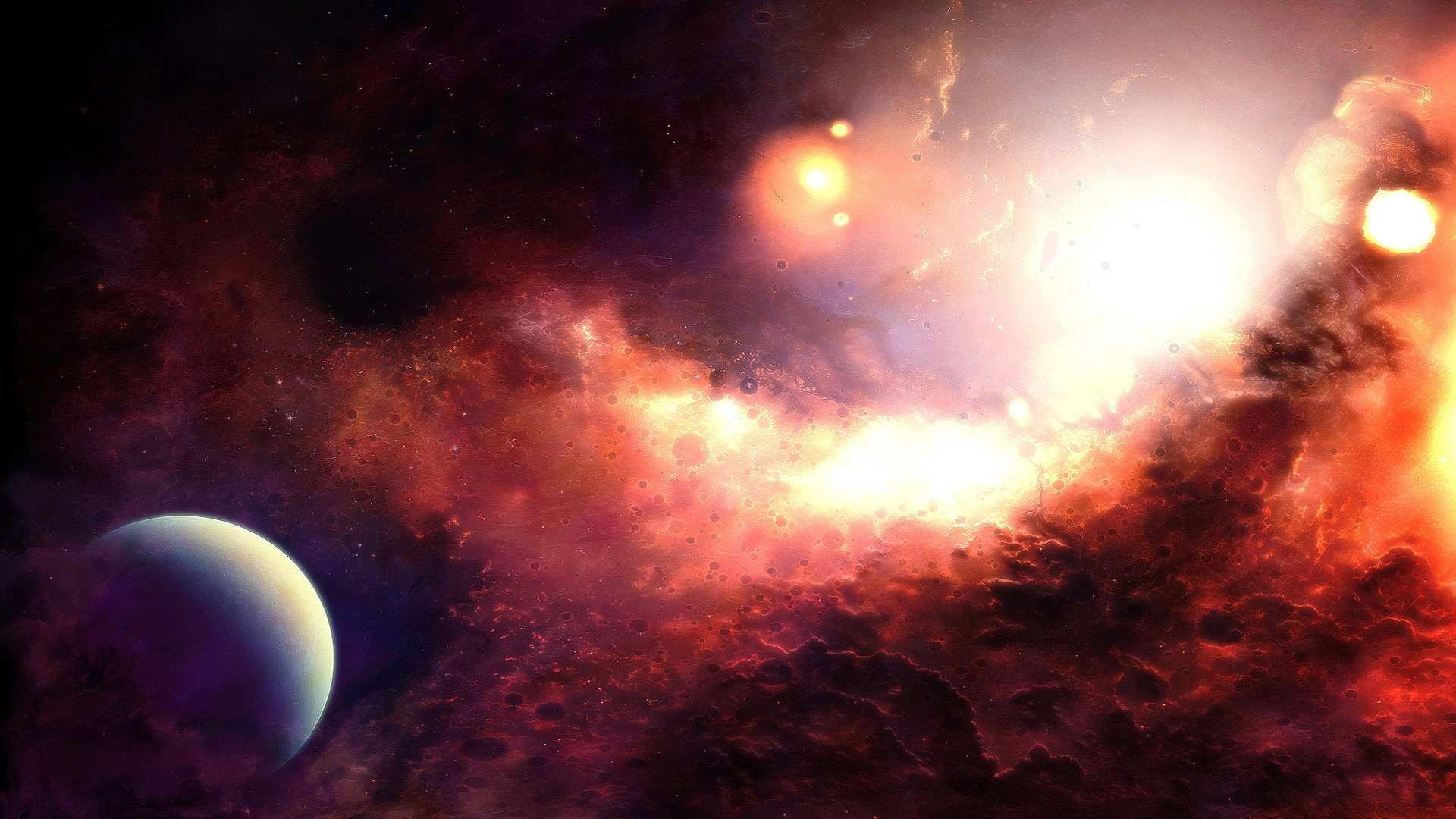 Wallpaper Beautiful Of The Red Space 1920x1200 Hd Picture Image