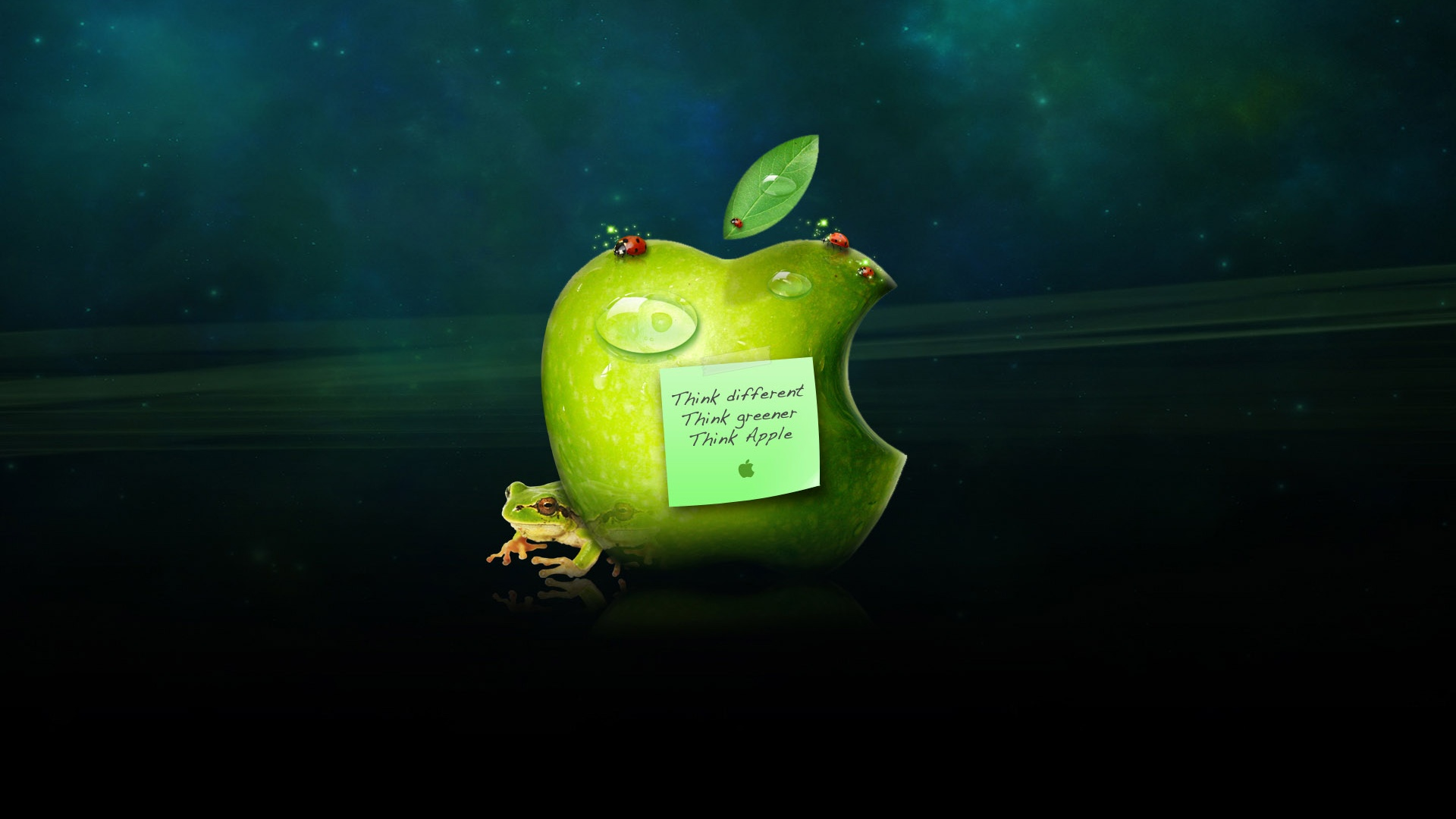 Wallpaper Think Different Think Greener Think Apple