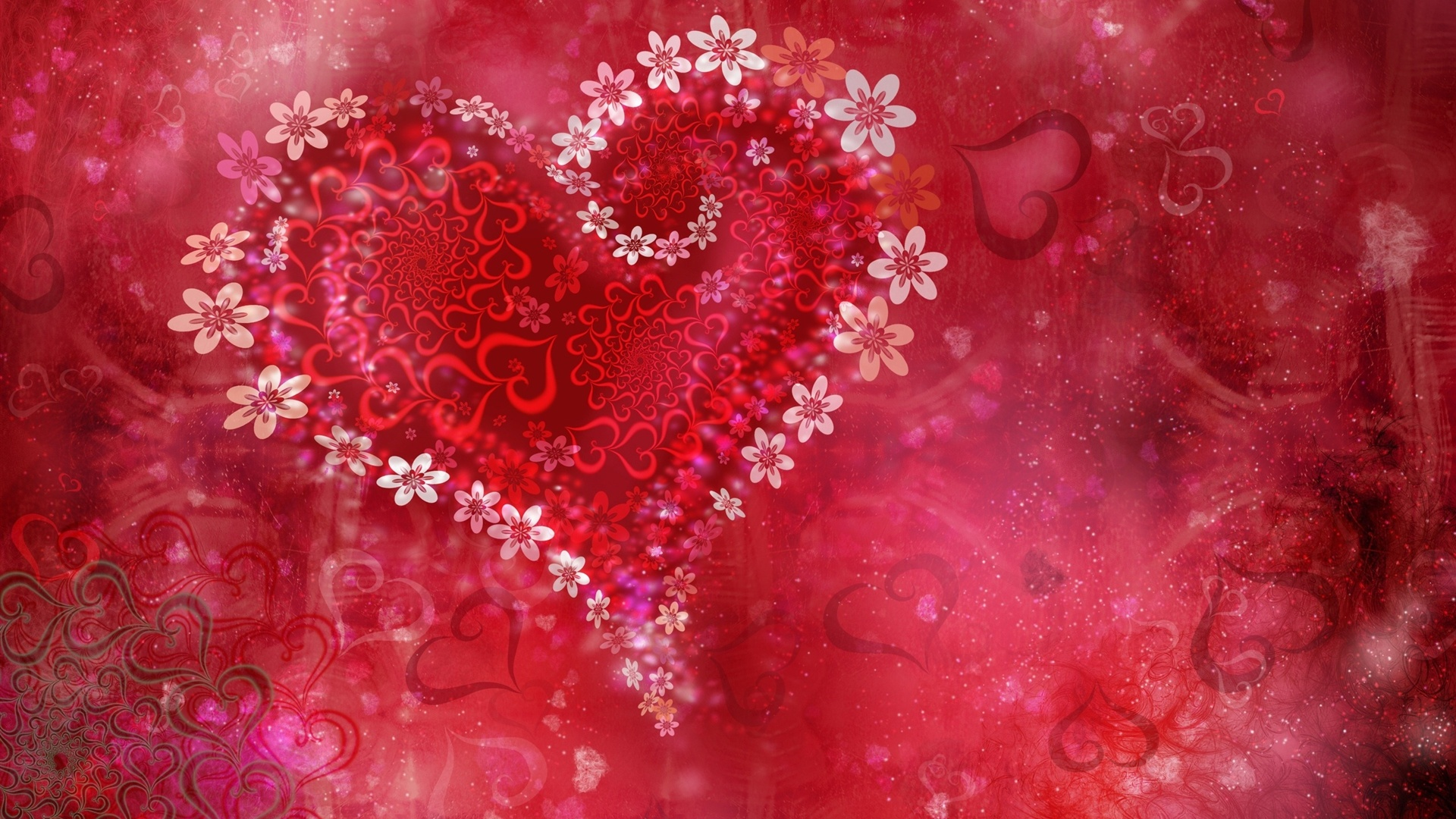 Download Wallpaper 1920x1080 Valentine s Day flowers of ...