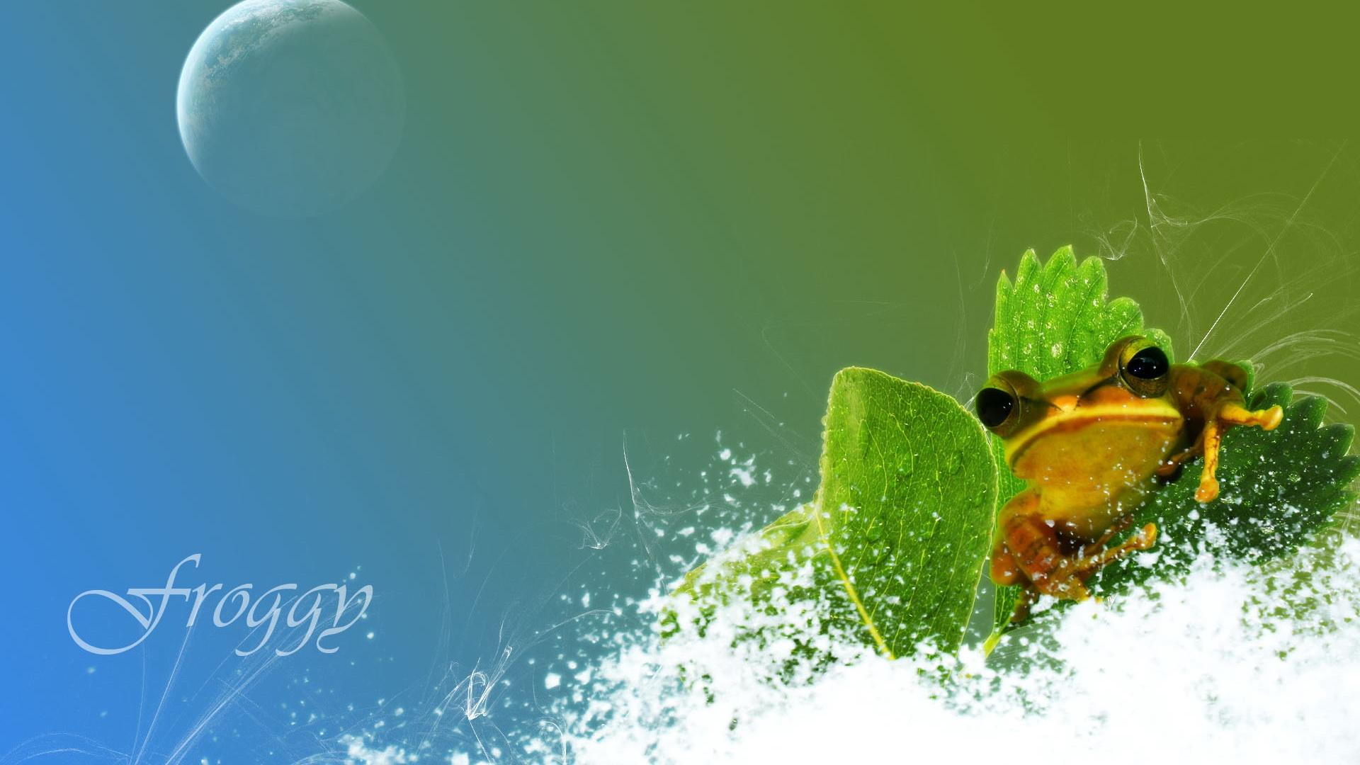 Water Design Wallpaper : Creative design frog and water wallpaper  full
