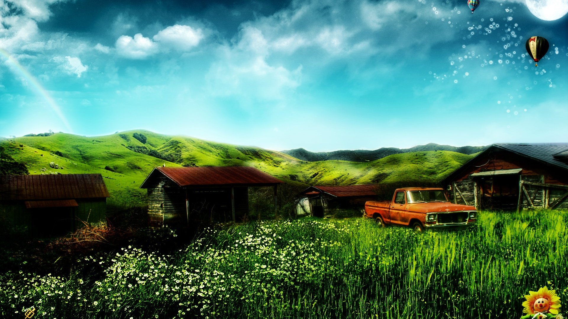house and truck Wallpaper | 1920x1080 Full HD resolution wallpaper ...: best-wallpaper.net/Dream-home-house-and-truck_1920x1080.html