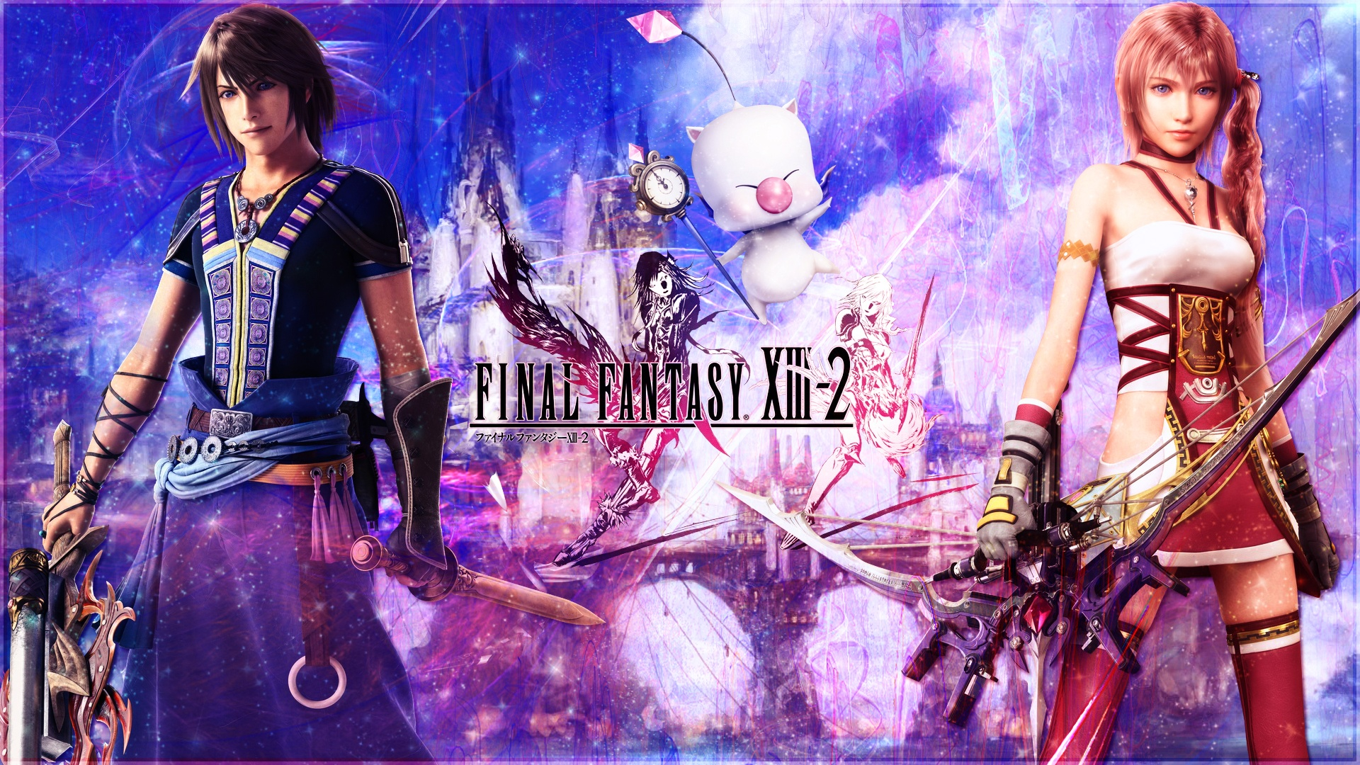 final fantasy xiii-2 wide 640x960 iphone 4/4s wallpaper, background