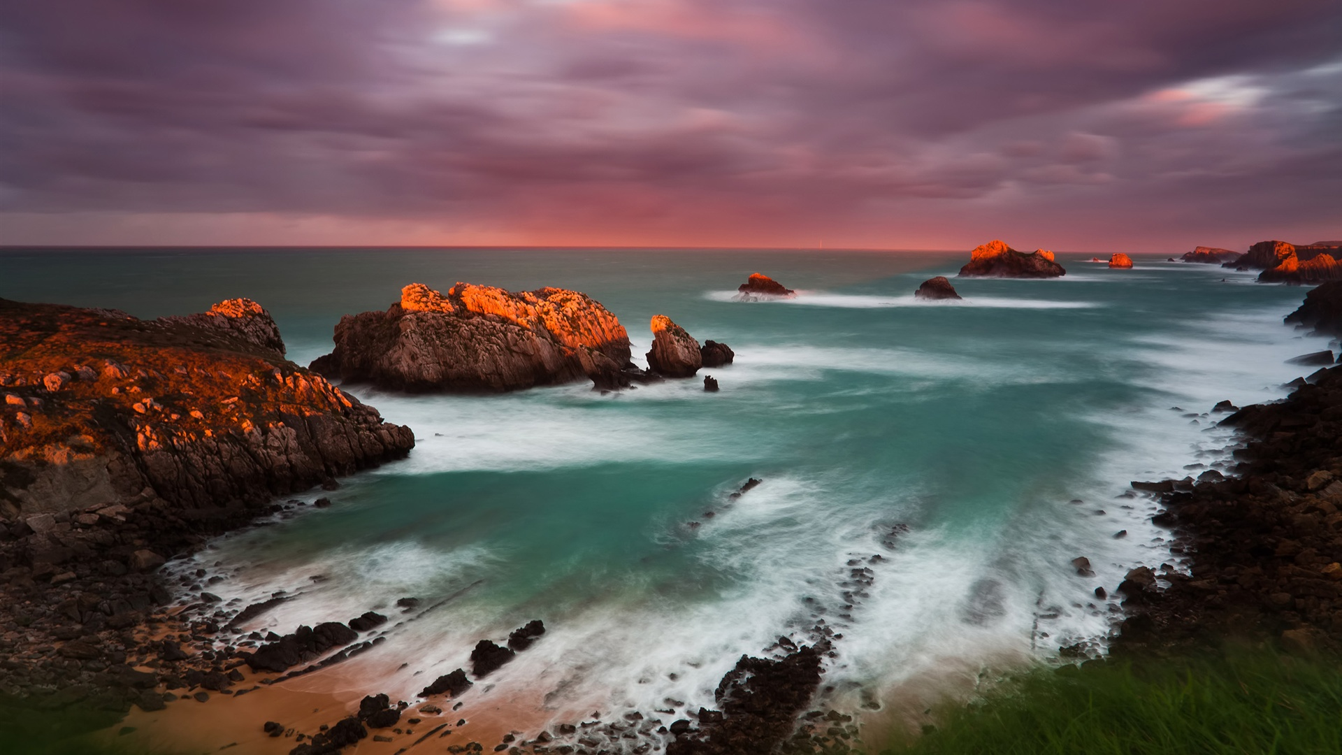Spain Cantabria sunset wallpaper - 1920x1080