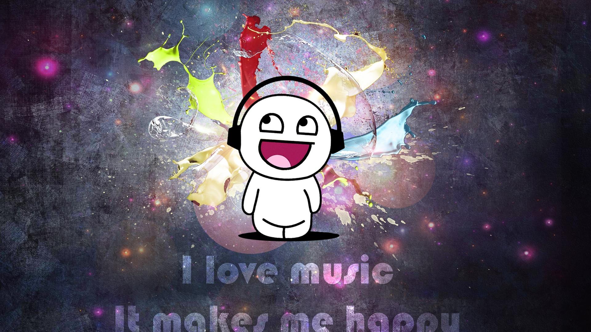 ... Musik, es macht mich glücklich Hintergrundbilder - 1920x1080 Full HD